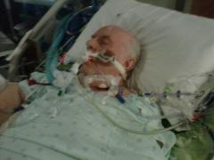My Dad in the intensive care unit experiencing septic shock.