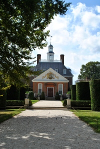 We walked the streets of colonial Williamsburg, the capital of colonialVirginia.
