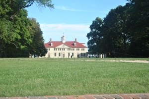 We visited George Washington's home at Mount Vernon.