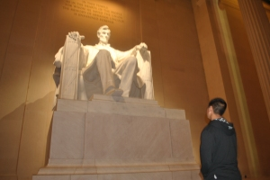 We contemplated the cost of freedom at the Lincoln...
