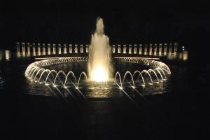 WWII, Korean, and Vietnam memorials