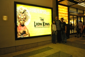 We applauded the talent display on Broadway (The Lion King).