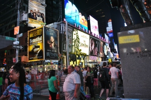 We were assaulted by New York City's time square.