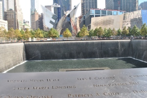 We wept the loss captured at the 911 Memorial.