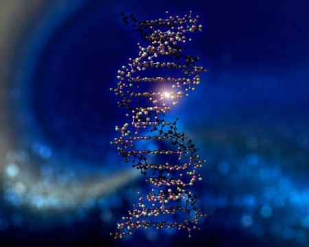 Molecules Arranged in Double Helix --- Image by © Imtek Imagineering, Inc./CORBIS
